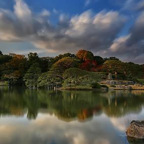 六義園、東京部 by Nurul Anwar - City,  Street & Park  City Parks