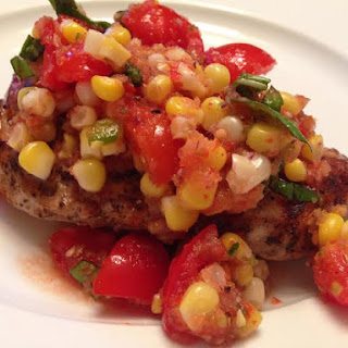 Tomato & Corn Salsa (Over Grilled Chicken)