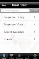 Screenshot of iPerfumer