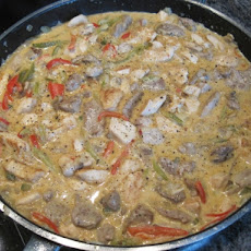 Filetvariationen Stroganoff