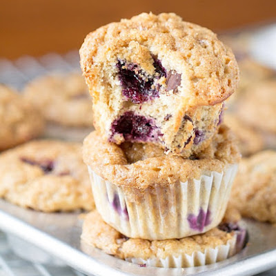 The Best Blueberry Banana Yogurt Muffins