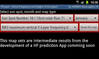 Screenshot of E-F-Layer frequency and height