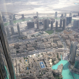 At the Top by Shelina Khimji - City,  Street & Park  Skylines ( at the top, burj al khalifa, burj, buildings, skylines,  )