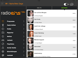 Screenshot of radioeins