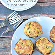 Delicata Squash Stuffed Mushrooms