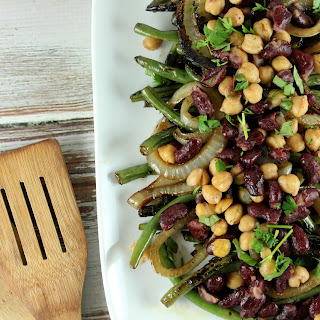 Grilled Balsamic Three Bean Salad