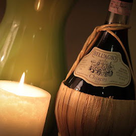 Wine by Candlelight  by Molly Chalfin - Food & Drink Alcohol & Drinks ( wine candlelight )