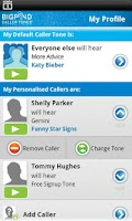 Screenshot of BigPond Caller Tones
