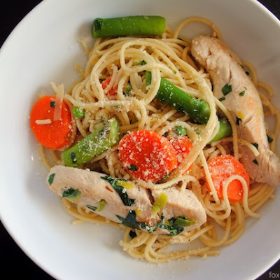 Spring Vegetable and Chicken Primavera