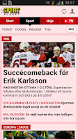 Screenshot of Aftonbladet