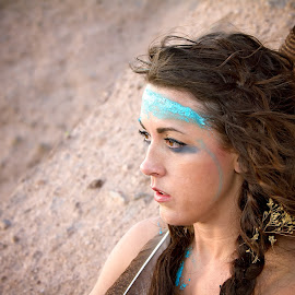 Mud & Sticks  by Kelly Hernbloom - People Fashion ( colorado photographer, portrait photographer, desert, fine art portraits, portraits, photographs of women,  )