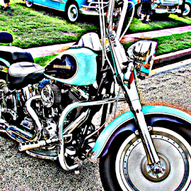 Vintage Motorcycle by Teresia Foreman - Transportation Motorcycles