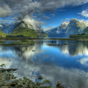 Milford Sound - New Zealand by Peter Kennett - Landscapes Travel ( tonemapped, milford sound, new zealand )