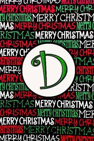 聖誕節的Monogram ð現場可濕性粉劑