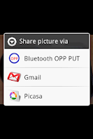 Screenshot of Bluetooth OPP PUT for 2.x Lite