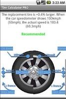Screenshot of Tire Calculator PRO