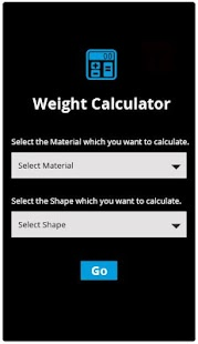Metal Weight Calculator - screenshot