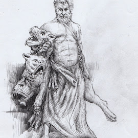 Statue...1 by Sowmen Chanda - Drawing All Drawing