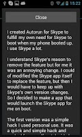 Screenshot of Autorun for Skype