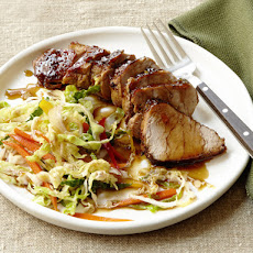 Black-and-Tan Pork With Spicy Ale Slaw