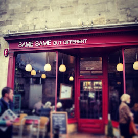 Didn't go inside but wondering if it's run by twins. by Lisa Hafey - City,  Street & Park  Markets & Shops ( bath )