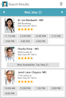 Screenshot of ZocDoc - Book a Doctor Online!