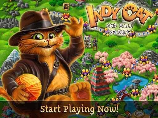 Indy Cat Match 3 - screenshot