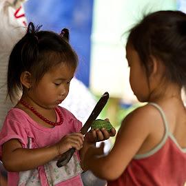 sharp knife by Roger van Zandvoort - Babies & Children Children Candids