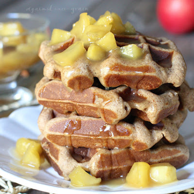 Caramel Apple Spice Waffles