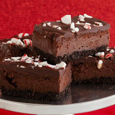 Chocolate Cheesecake Candy Cane Bars