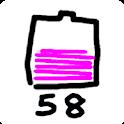 らくがき バッテリー メーター [残量表示ウィジェット] icon