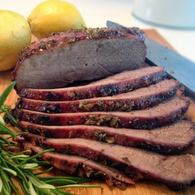 Lemon-Rosemary Glazed Wild Boar Inside Round