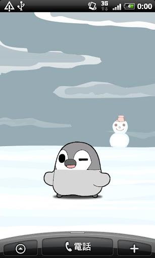 ぺそぎんライブ壁紙「冬」 雪・人気の無料ペンギン待受けアプリ
