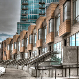 Downtown Denver Townhomes by Jonathan Lewis - Buildings & Architecture Homes ( hdr, architecture )