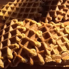 Pumpkin Sourdough Waffles
