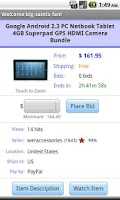 Screenshot of Pocket Auctions eBay