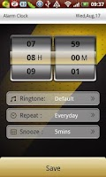 Screenshot of Transformers clock widget