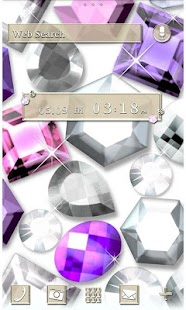Cute Theme-Glittering Gems- - screenshot
