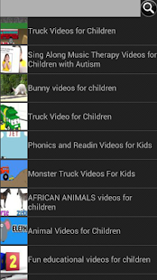Panda video finder for kids - screenshot