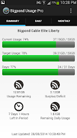 Screenshot of Bigpond Usage Pro