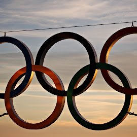 Olympic Rings at Sunset by Ashley Pohl - Novices Only Objects & Still Life