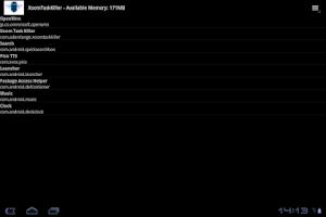 Screenshot of Galaxy Tab 10.1 Task Killer