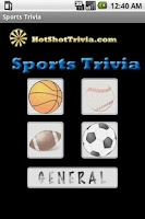 Screenshot of Sports Trivia
