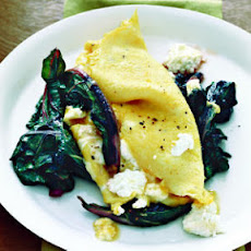 Ricotta Omelet with Swiss Chard