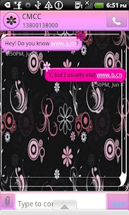 GO SMS THEME/PinkDaisy4U - screenshot