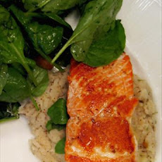 Pan-Fried Salmon With Cannellini Bean Purée