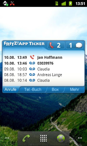 FRITZ App Ticker Widget