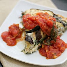 Eggplant and Swiss Chard Tortino