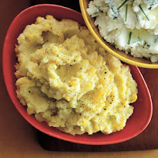 Saffron-Corn Mashed Potatoes
