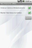 Screenshot of Meu Hinário NC Offline